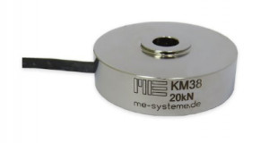 KM38 (M4) - Ø38 - 1 à 20kN - IP64 - Capteur de force de compression miniature à bouton de charge - 1kN à 20 kN - IP64