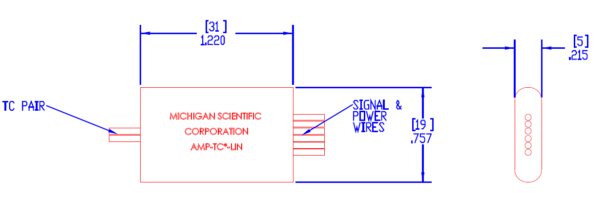 AMP-TCx-LIN - Linearizing Thermocouple Amplifier