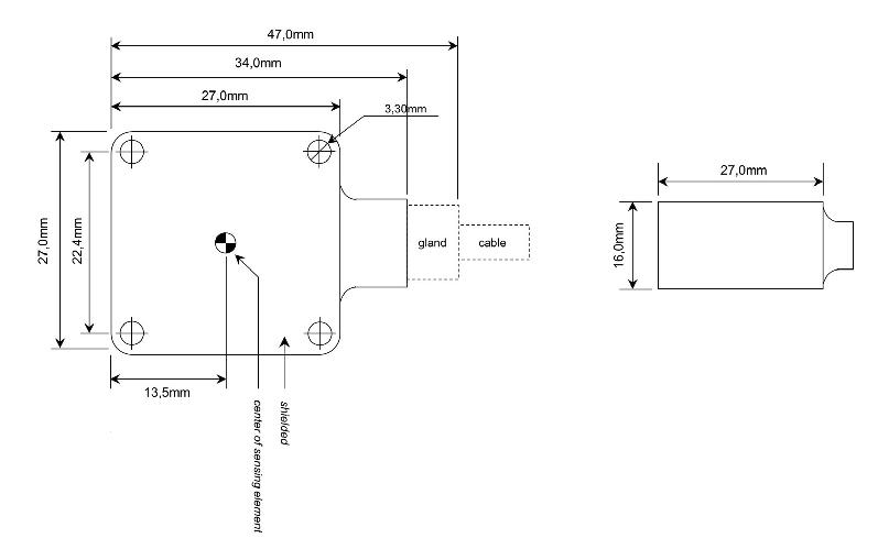 OS-215-LN-PG - Accéléromètres étanche 2 axes ±2g à ± 400g