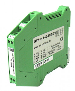 GSV-1H - 1- channel straingauge amplifier in DIN rail housing
