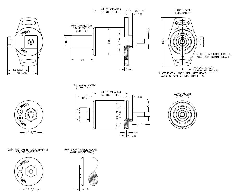 Capteur de position angulaire inductif