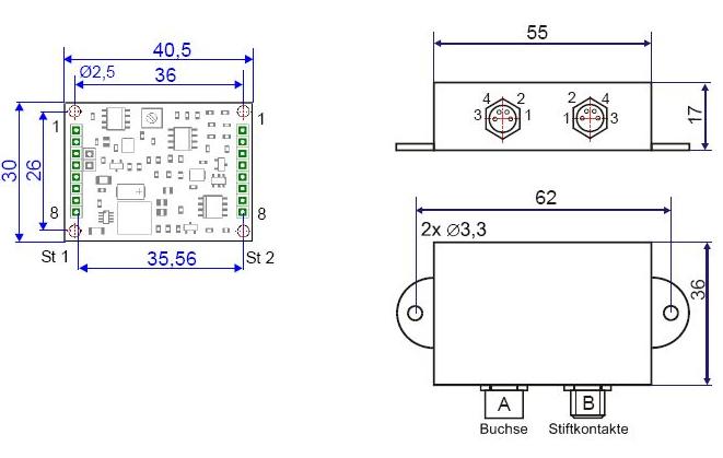 Conditionneur capteur de force IP67