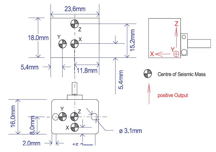 Accéléromètre piézorésistif 74C1