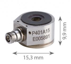 P401A15 - Accéléromètres uniaxial Piezo-Electrique ±5g à ±500g