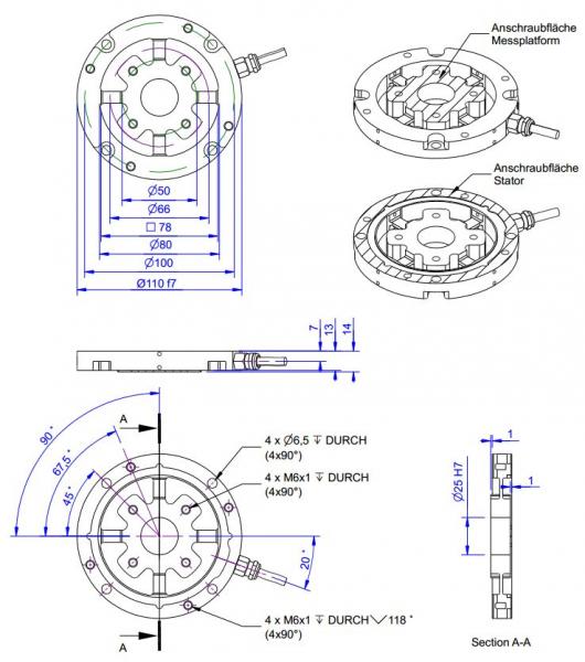 capteur de force 3 composantes