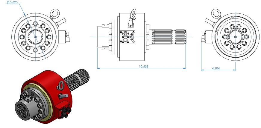 PTO - Power Take-Off Telemetry Transducer - 5000 Nm