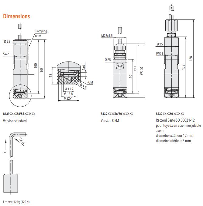 ECL 8439 - Hydrostatic liquid level sensor - 10 mbar to 6 Bar