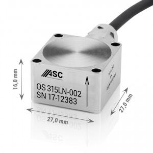OS-325 MF - Accéléromètres inox etanche 2 axes ±2g à ± 200g