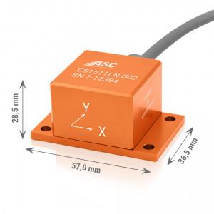 Accéléromètre capacitif 4-20 mA