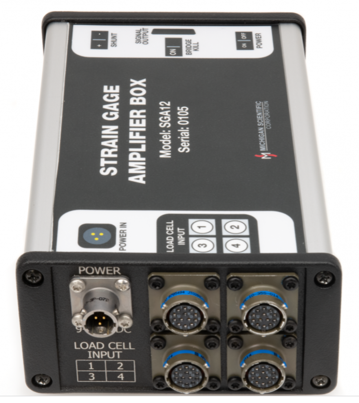 SGA12A - Twelve Channel Strain Gage Amplifier Box for 3D load cells